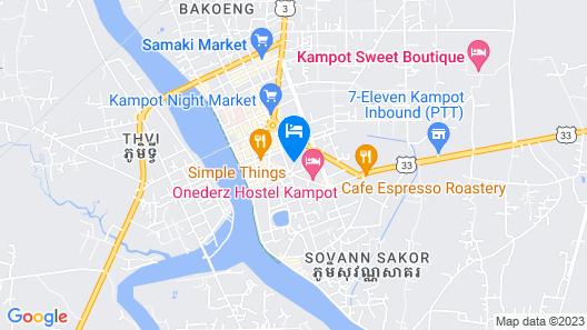 Boutique Kampot Hotel Map