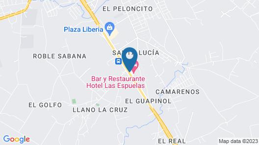 Las Espuelas Hotel Map