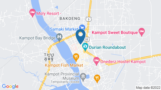 Neakru Guesthouse and Restaurant Map