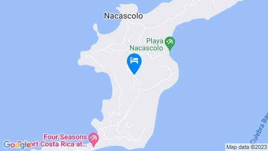 Casa Pericos Peninsula Papagayo Map