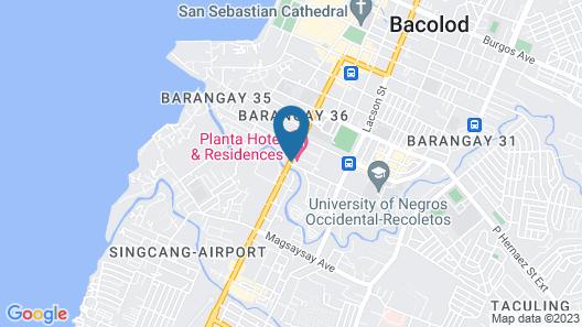 Planta Centro Bacolod Hotel & Residences Map