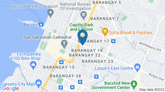 The White B&B Bacolod Map