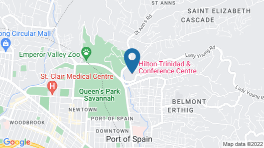Hilton Trinidad & Conference Centre Map