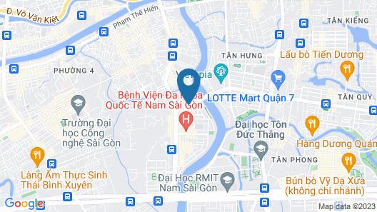 La Galerie Hotel Map