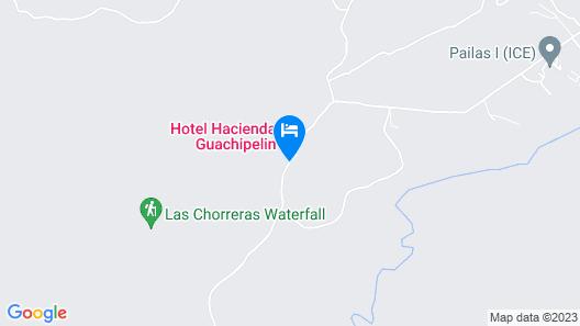Hotel Hacienda Guachipelin Map