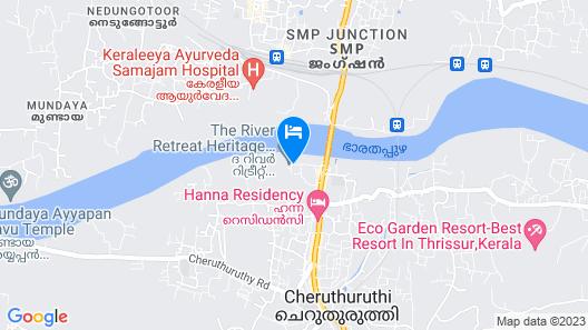 River Retreat Heritage Ayurvedic Resort Map