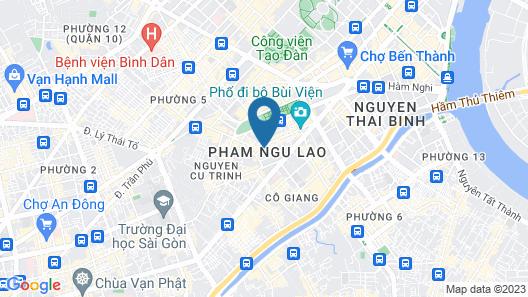 Duc Vuong Hotel Map