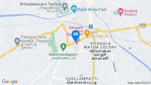 Sangam Hotel in Thanjavur Map