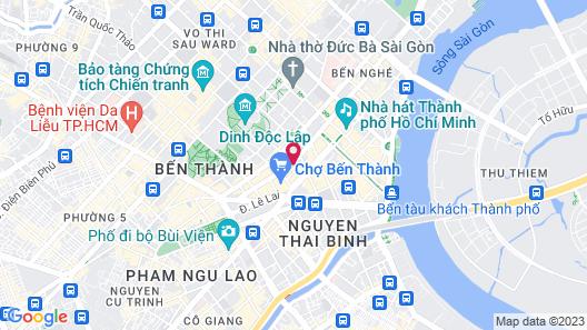Papaya Saigon Central Hotel Map