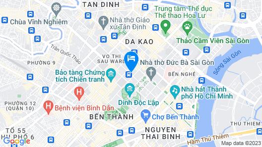 Orchids Saigon Hotel Map