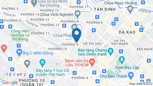 A25 Hotel No 6 Truong Dinh Map