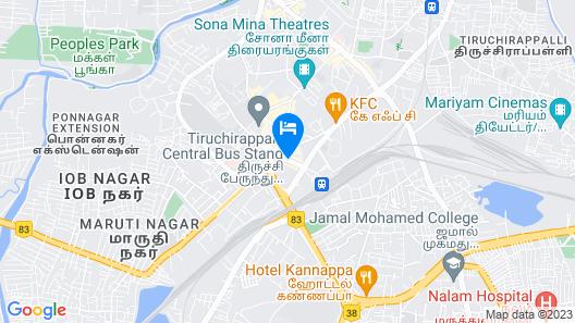 Red Fox Hotel -Tiruchirappalli Map
