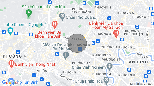 [sgn Airport] Quiet Private Room & Bathroom Above a Cafe in Bustling Area Map