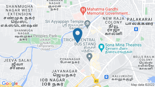 Sangam Hotel Trichy Map