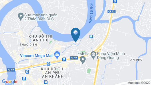 Riverside Serviced Apartments Map