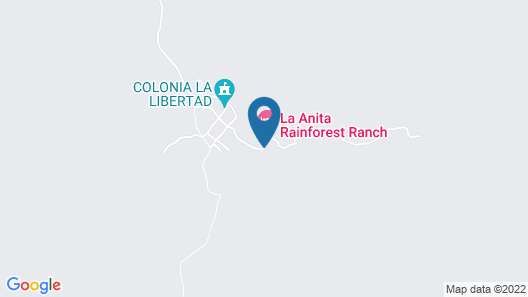 La Anita Rainforest Ranch Map