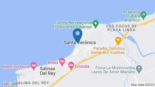 Casa  Frente Al Mar Santa Veronica Map