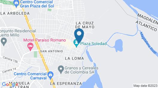 Hotel Boutique Campanario del Río Map