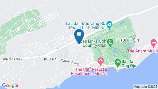 Bit th ngh D?ng M?i Né - Sea Villa D3 - Resort Villa Muine Domaine Map