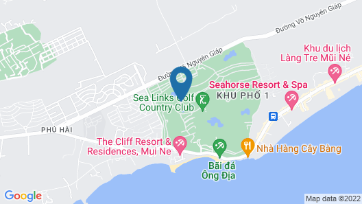 Sea Links Beach Hotel Map