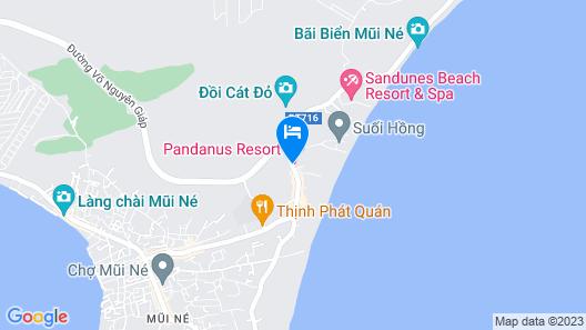 Pandanus Resort Map