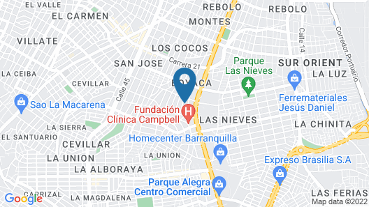 Hotel Don Jorge Map