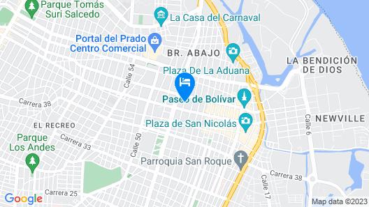 Hotel Interamericano Map