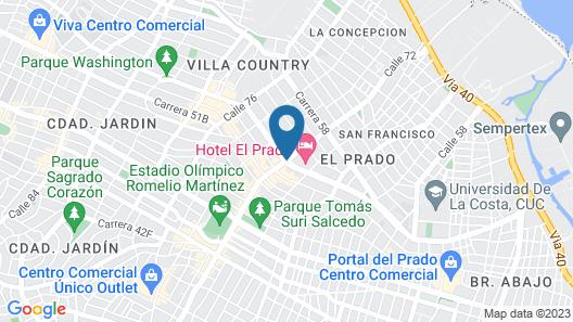 Hotel El Prado Map