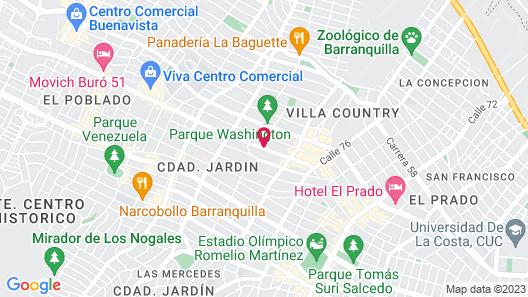 Hotel Barranquilla Plaza Map