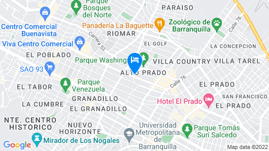 NH Collection Barranquilla Smartsuites Royal Map