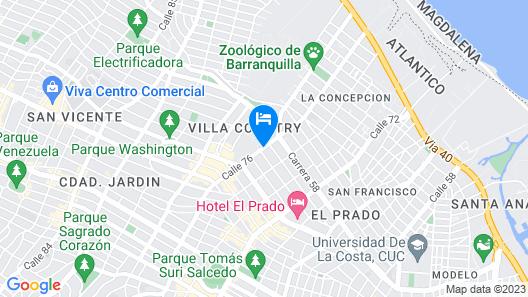 Hotel Estelar En Alto Prado Map