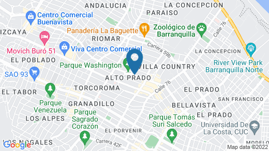 Four Points By Sheraton Barranquilla Map