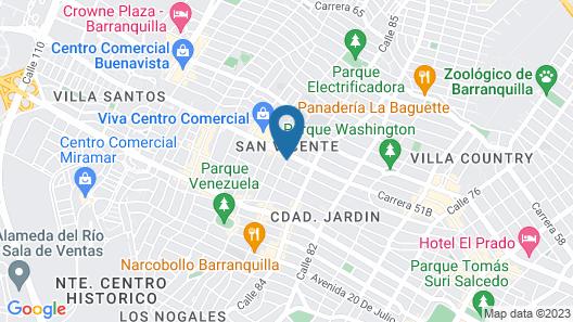Hampton by Hilton Barranquilla Map