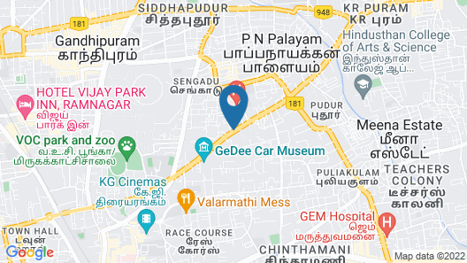 The Residency Towers Coimbatore Map