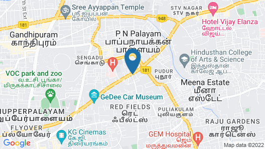 Zone By The Park Coimbatore Map