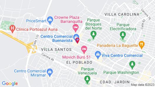 Dann Carlton Barranquilla Map