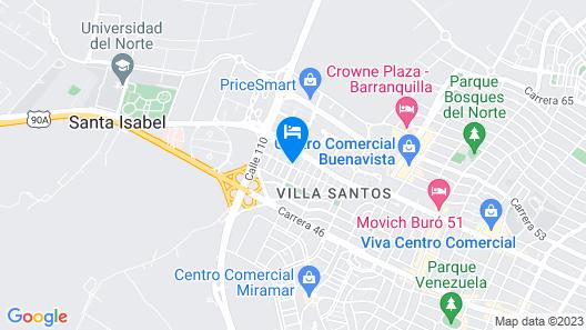 GHL Hotel Barranquilla Map