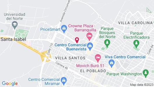 Hilton Garden Inn Barranquilla Map