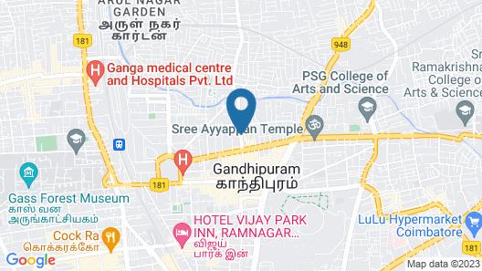 FabHotel Royal Castle Gandhipuram Map