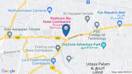 Radisson Blu Coimbatore Map