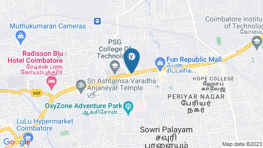 Le Meridien Coimbatore Map