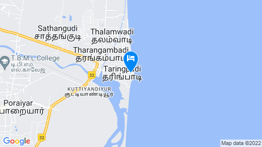 The Bungalow On The Beach-Tranquebar Map