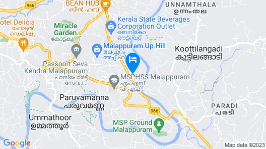 Hotel Soorya Regency Map