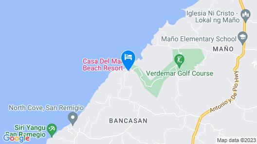 Casa del Mar Beach Resort Map