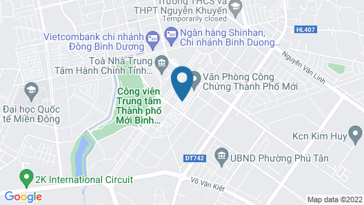 Binh Duong Hotel and Apartment Map