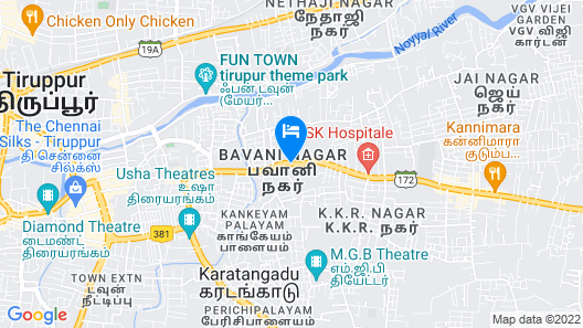 Velan Hotel Greenfields Map
