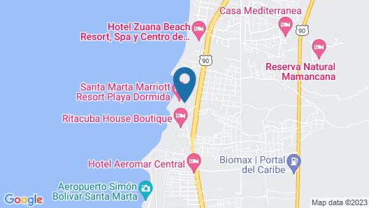 Santa Marta Marriott Resort Playa Dormida Map