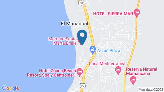 Mercure Santa Marta Emile Map