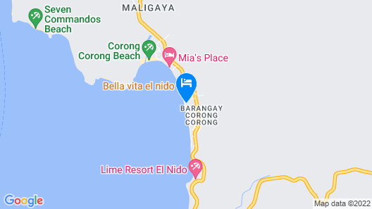 El Nido Mahogany Beach Map