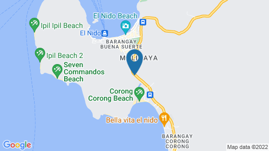 OYO 712 Island Hop Nido Hostel Map